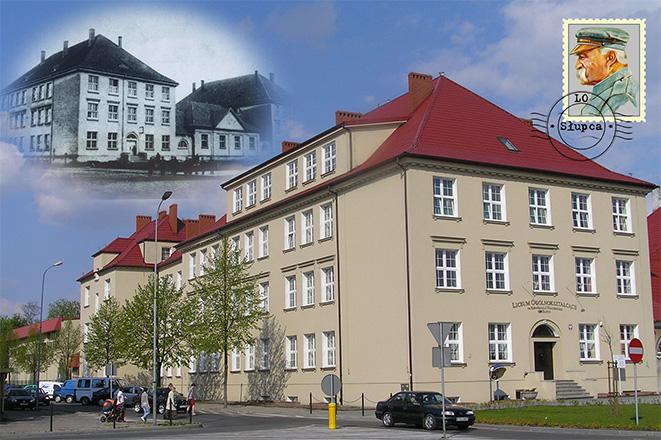 Fotografia budynku szkoły.